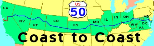 COAST to COAST on US 50. A Journey Across America on Route 50, 